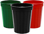 16oz Blank Fluted Stadium Cups